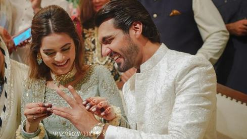 Inside Minal Khan and Ahsan Mohsin Ikram's engagement ceremony