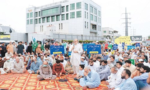 JI holds yet another sit-in against power cuts, overbilling