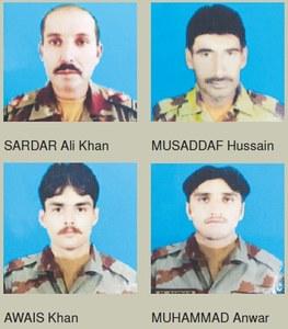 Four FC men martyred in IED blast