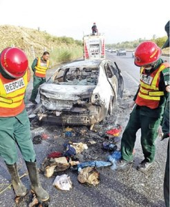 One killed, 14 injured in two accidents on M-1