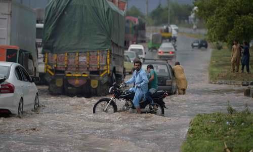Heavy rains flood low-lying areas in Rawalpindi