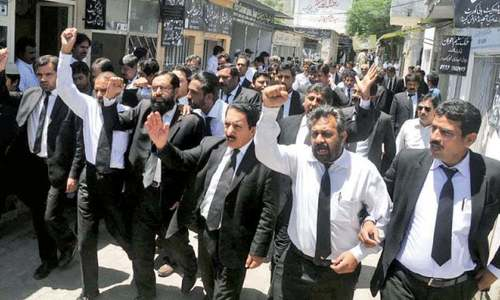 KP lawyers observe strike against govt today