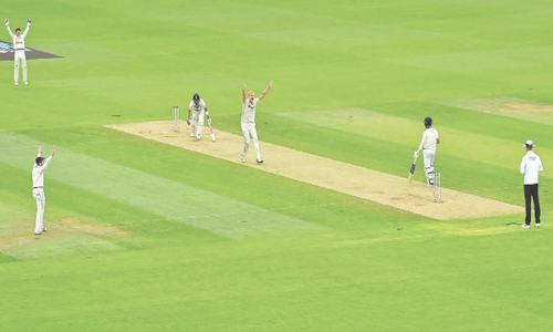 Jamieson stars with five-for before NZ openers frustrate India