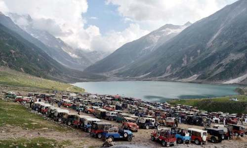 Visitors entering Saiful Muluk park to pay fee