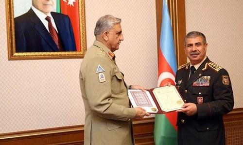 Bajwa, Azerbaijan president discuss regional security