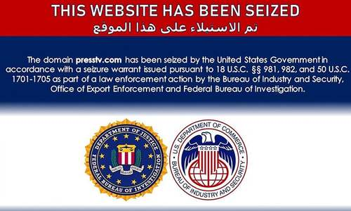 Iran says state-linked websites seized by US