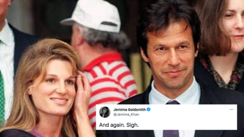 Jemima Goldsmith reacts to PM Imran's latest statement on rape with a sigh