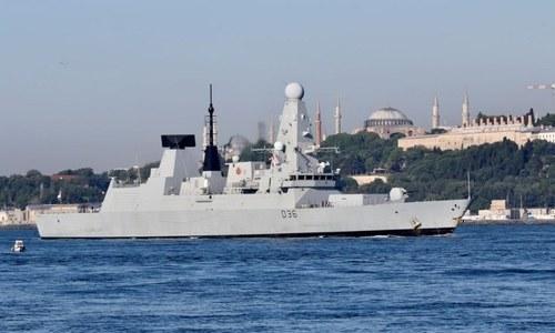 بحیرہ اسود میں روس کی برطانوی آبدوز کے راستے پر بطور وارننگ بمباری