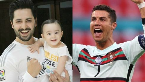 Danish Taimoor is ecstatic after being mentioned in Cristiano Ronaldo's celebratory video