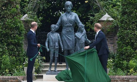 'We wish she were still with us': UK's William and Harry reunite to unveil Princess Diana statue