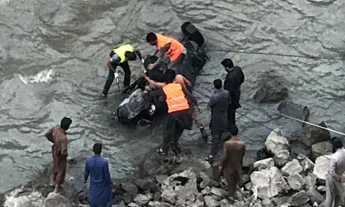 Six of a family die as their vehicle plunges into Neelum River