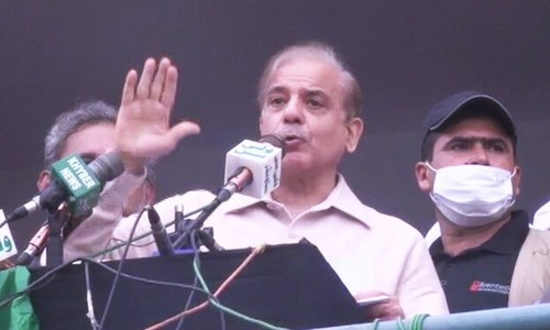 'Revolution' needed against govt policies of destruction, Shehbaz tells PDM rally in Swat