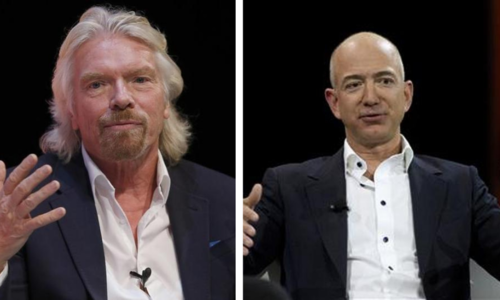 Branson, Bezos face off in space tourism market