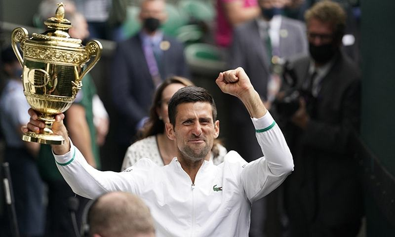 Djokovic wins record-equalling 20th Grand Slam and sixth Wimbledon title