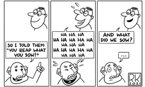 Cartoon: 18 July, 2021