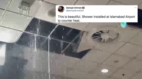 The Islamabad airport's false ceiling is collapsing and Twitter can't stop with the jokes