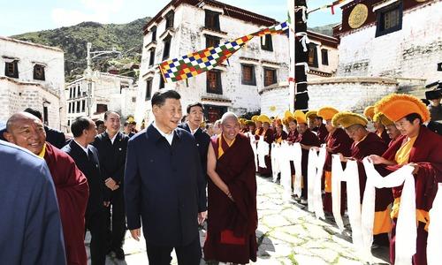 President Xi makes rare trip to Tibet