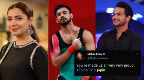 'You've made us all very proud': Mahira Khan and other stars celebrate weightlifter Talha Talib