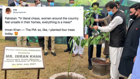 Twitter users slam PM Imran for launching plantation campaign instead of commenting on Noor's murder