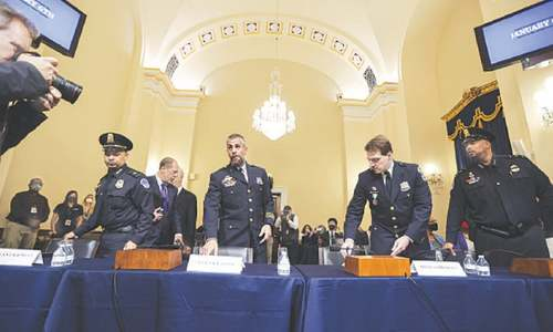Police recall 'hell and back' at US Capitol probe