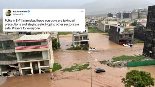 Twitterati are in shock after seeing footage of urban flooding in Islamabad