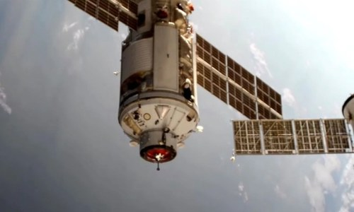 International Space Station thrown out of control by misfire of Russian module: Nasa