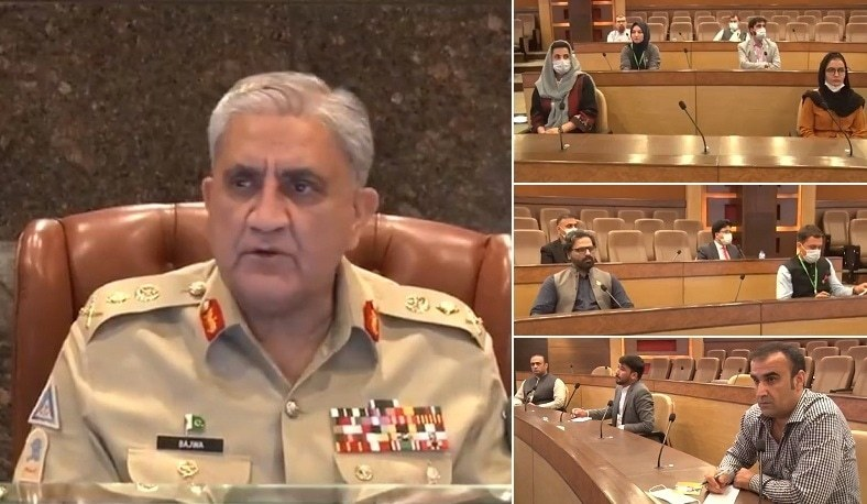 'Media's responsibility to identify spoilers of peace,' Gen Bajwa tells Afghan journalists