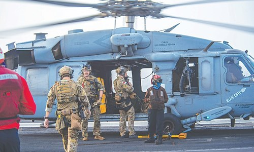 US Navy says drone strike hit oil tanker off Oman
