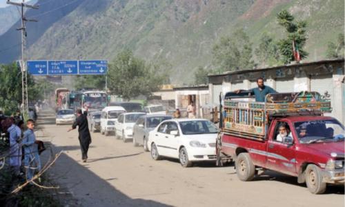 Landslides block KKH for second day in Kohistan