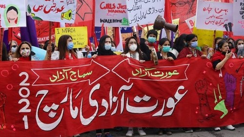 Netizens are up in arms after the Aurat March Faisalabad was cancelled