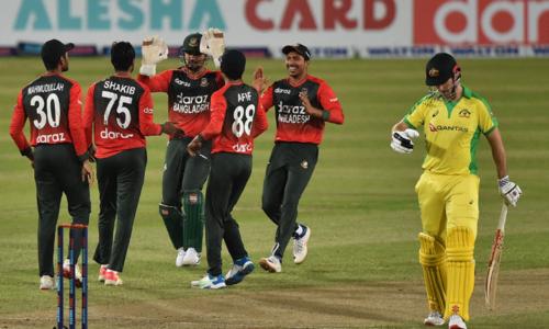 Nasum stars as Bangladesh claim first-ever T20 win over Australia