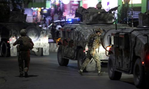 Powerful explosion, gunfire hit Kabul near 'Green Zone'