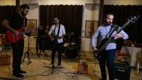 Gaza's first rock band, Osprey V, is stepping into the limelight to sing about Israeli oppression