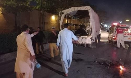 2 policeman martyred, 12 injured in blast near Quetta's Serena Hotel