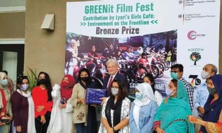 Short documentary Lyari's Girls Café wins bronze prize at GREENit Film Fest