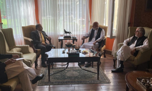 Pakistani ambassador meets Karzai, Abdullah to discuss 'efforts for stability' in Afghanistan