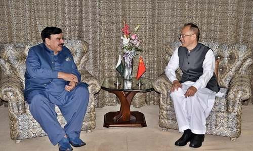 Chinese ambassador takes up security issue with Rashid