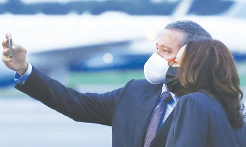 Kamala Harris accuses China of 'intimidation' in seas