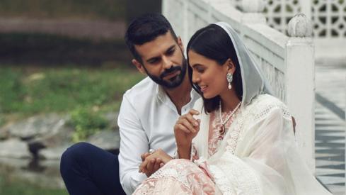 Adnan Malik and Mushk Kaleem wrap us in a world of old school romance in Elan's latest campaign