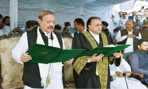 Barrister Sultan takes oath as 10th president of Azad Kashmir