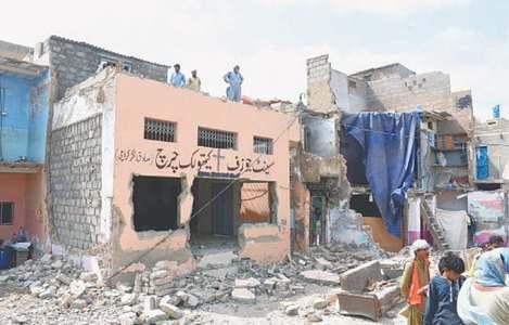 3 of 4 churches along Karachi's Gujjar Nullah demolished during anti-encroachment drive