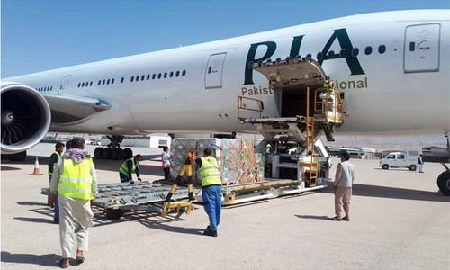 First PIA flight lands in Afghanistan carrying medical aid from WHO