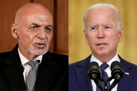 In last call before Afghan collapse, Biden pressed Ghani to 'change perception'