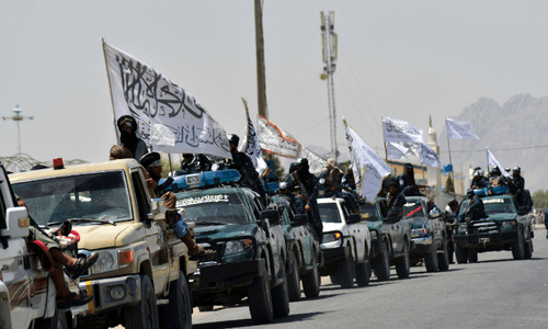 In pictures: Taliban parade to show off plundered US hardware