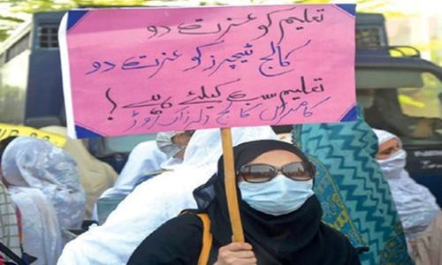 Teachers, students protest plan to 'privatise' colleges in KP