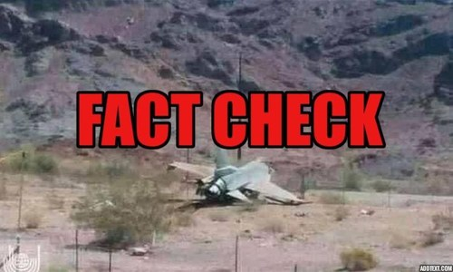Fact check: Picture claimed to be of PAF jet shot down in Panjshir is actually from US