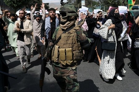 Taliban fire shots to disperse protests in Kabul