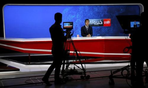 Top Afghan TV network stays on-air despite fear of Taliban