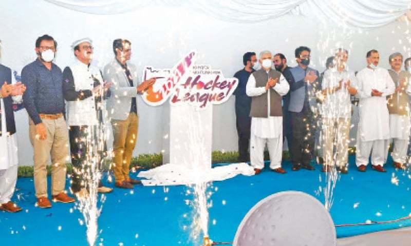 Mahmood unveils logo, trophy of KP Hockey League