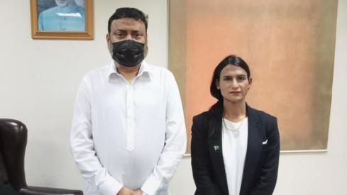 Nisha Rao is the first transgender student at Karachi University